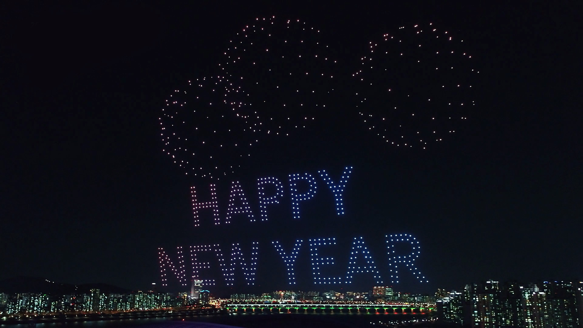 New Year's Drone Light Show | Channel Hyundai